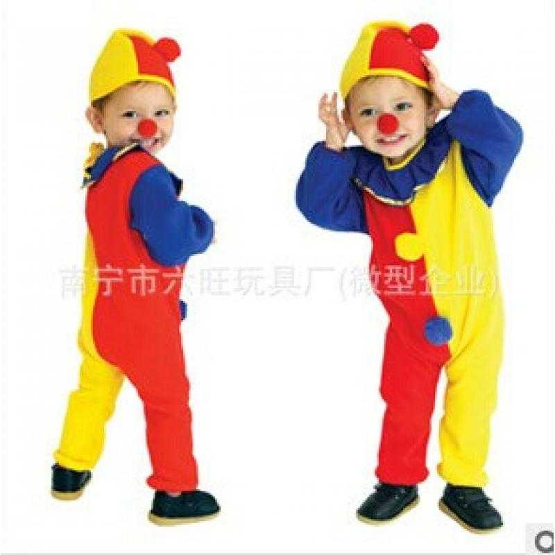 万圣节儿童演出服装欧美儿童小丑衣服cosplay舞台服
